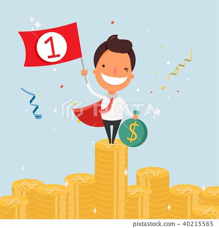 business cartoon character success stock illustration 40215565 pixta business cartoon character success