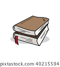 Book illustration on a white background 40215594