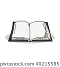Book illustration on a white background 40215595