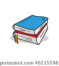 Book illustration on a white background 40215596