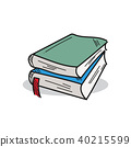 Book illustration on a white background 40215599