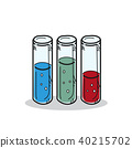 Test tube illustration on a white background 40215702