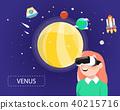 Women wearing virtual reality glasses look venus 40215716