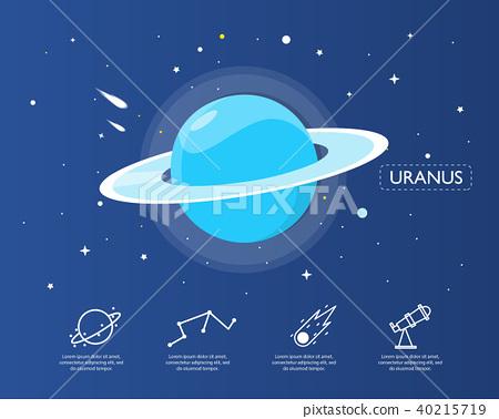 The uranus infographic in universe concept. 40215719