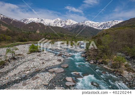 Hakuba Miyama和松川的清澈溪流 40220244