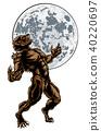 Wolf Man Werewolf Scary Horror Monster 40220697