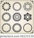 round circle frame 40223139