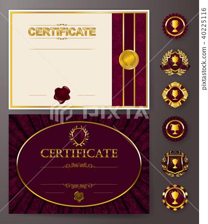 Elegant template of certificate, diploma 40225116