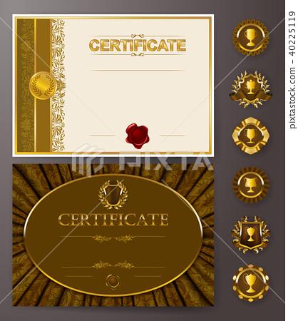 Elegant template of certificate, diploma 40225119
