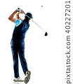 man golfer golfing isolated withe background 40227201
