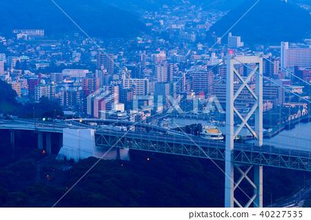 夜景 关门海峡大桥 关门海峡 40227535