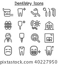 Dentistry icon set in thin line style 40227950