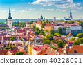 Tallinn, Estonia Historic Skyline 40228091