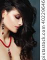 Brunette Woman Closeup Portrait. Beautiful Female  40229646