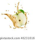 Apple Fruit Water Juice Yogurt Splash Illustration 40231016