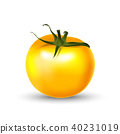 Tomato yellow 3d realistic isolated on white. 40231019