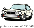 減速火箭的國內轎車白色系列汽車例證 40233649