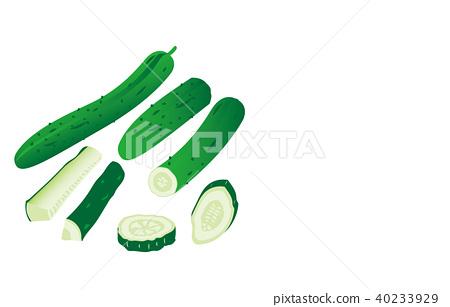 Cut vegetables cucumber 40233929