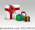 Group of Realistic 3D Colorful Gifts with Ribbons 3d Illustration 40234018