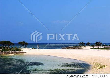 度假村的美麗海灘 40234413