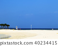 度假村的美麗海灘 40234415