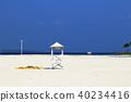 度假村的美麗海灘 40234416