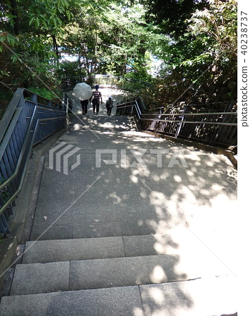 A long staircase 40238737