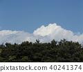 在初夏藍天的白色雲彩 40241374
