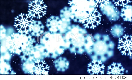 Background with nice falling snowflakes 40241880