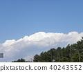 blue sky, blue, white 40243552