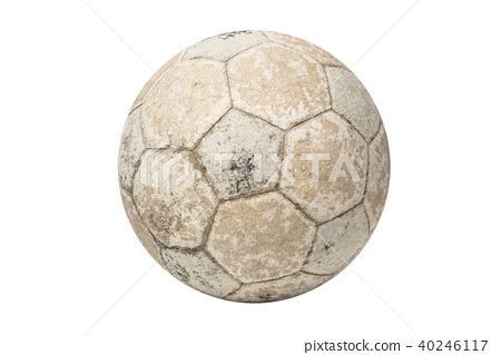 Isolated old ball 40246117