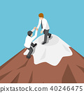 mountain, teamwork, help 40246475