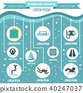 Swimming sport infographic elements, flat style 40247037