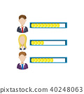 Ranking office worker icon, cartoon style 40248063