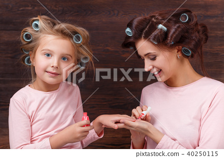 mother and daughter having fun together 40250115