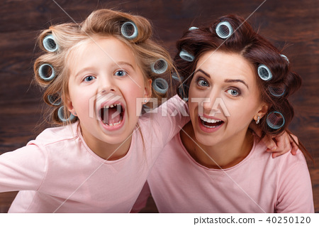 mother and daughter having fun together 40250120