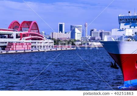 효고현 고베시. 항구의 풍경. 40251863