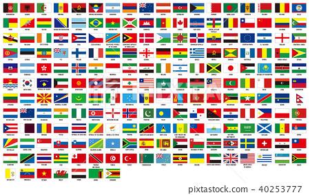 标志设置世界的世界国旗 40253777