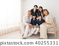 三代家庭入口仪式家庭照片图象 40255331