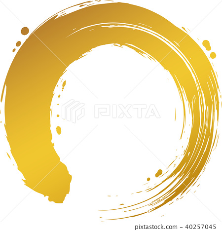 Round circle Gold brush character 40257045