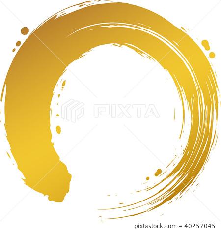 circle, round, calligraphy writing 40257045