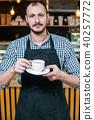coffee, barista, holding 40257772