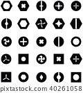 screw icon set 40261058