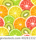 Vector seamless pattern of exotic tropical fruits 40261332