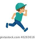 여름, 달리다, 아이 40263616