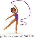 Ribbon Gymnastics Woman 40264719