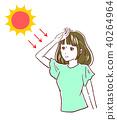 여름 태양 자외선 40264964