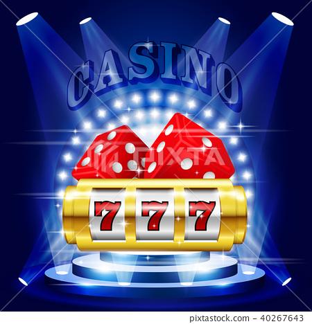 Big Win Or Jackpot 777 On Slot Machine Casino Stock Illustration 40267643 Pixta