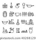 Thai Food icon set,Thai Kitchen Utensil symbol 40268129