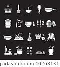 Thai Food icon set,Thai Kitchen Utensil symbol 40268131
